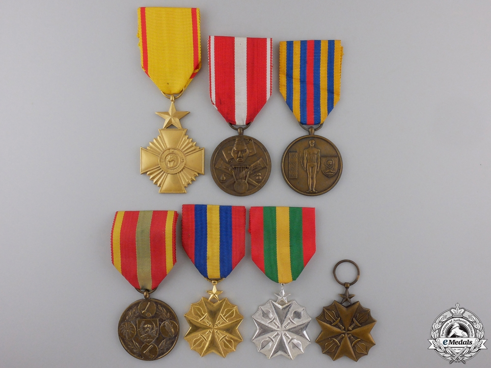 Seven Congo Democratic Republic Orders, Medals, and Awards