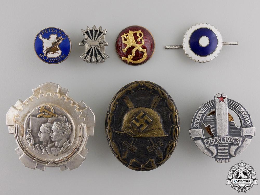 Seven European Badges & Insignia