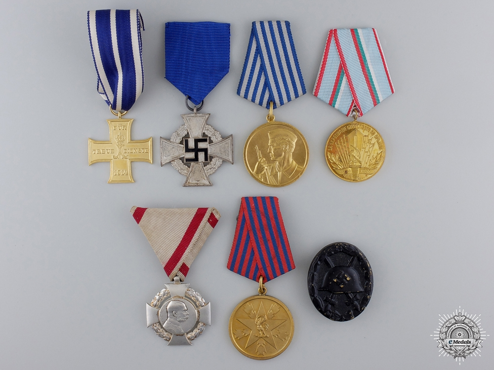 Seven European Medals, Awards, and Badges