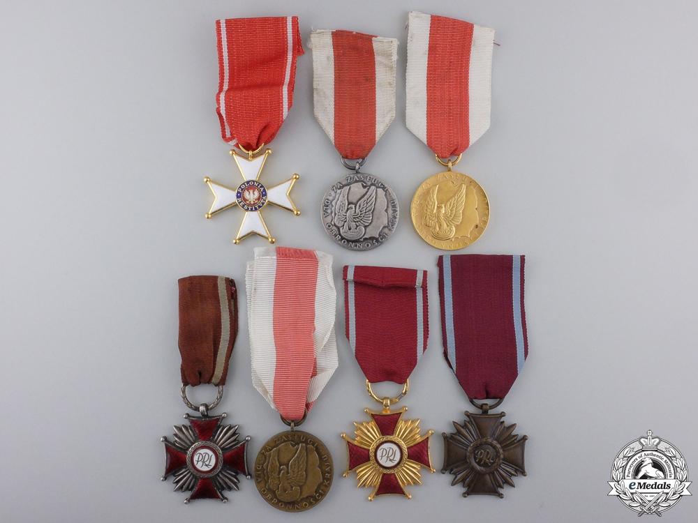 Seven Polish Medals & Awards