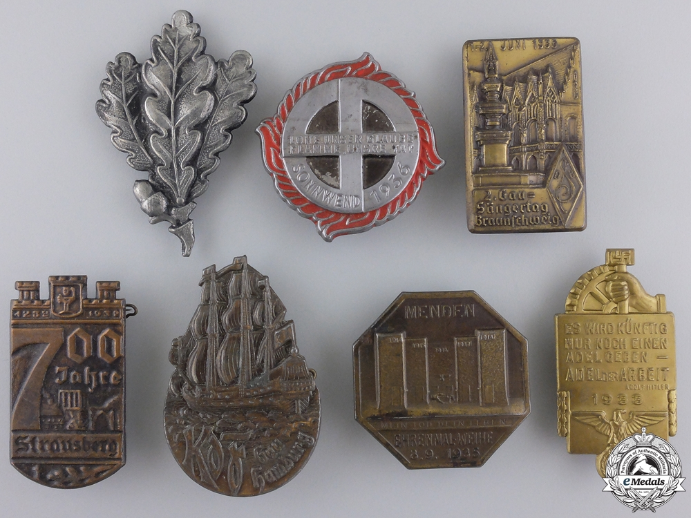 Seven Second War German Badges and Tinnies