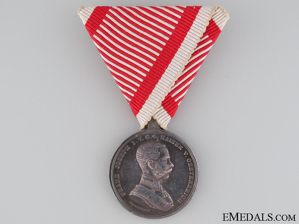 Silver Bravery Medal; Second Class 1866-1914