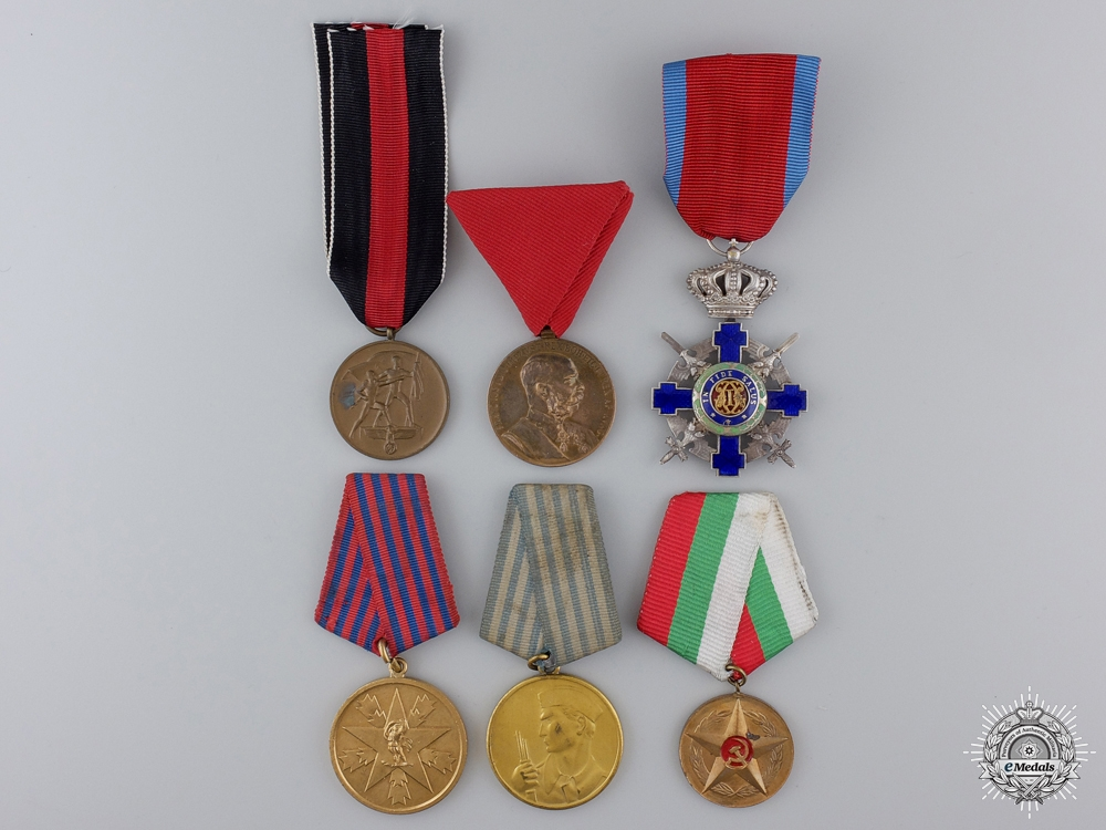 Six European Medals, Awards, and Orders