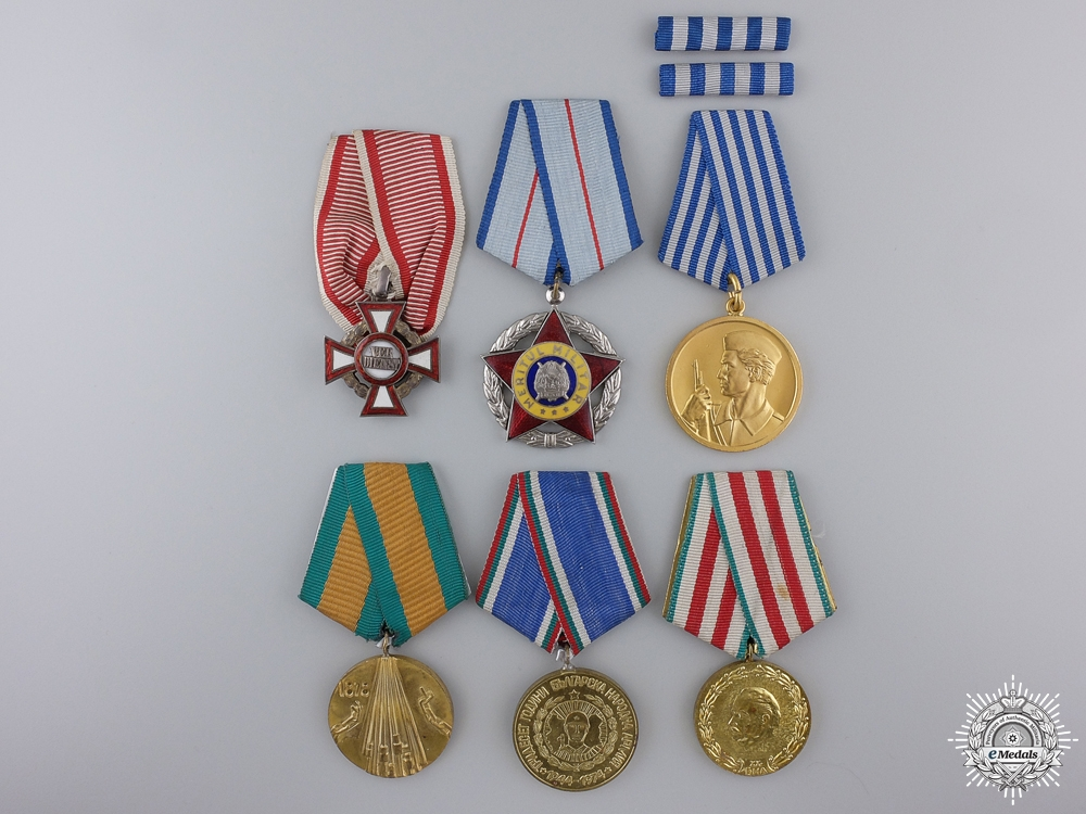 Six European Medals, Orders, and Awards