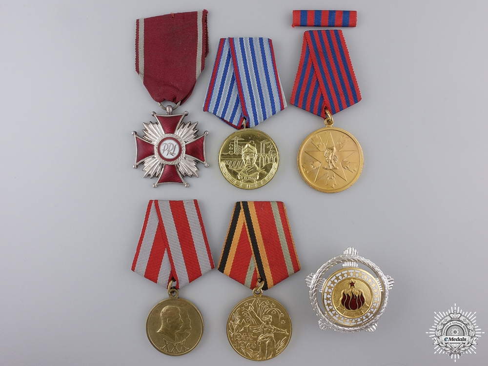 Six European Medals, Awards, and Badges