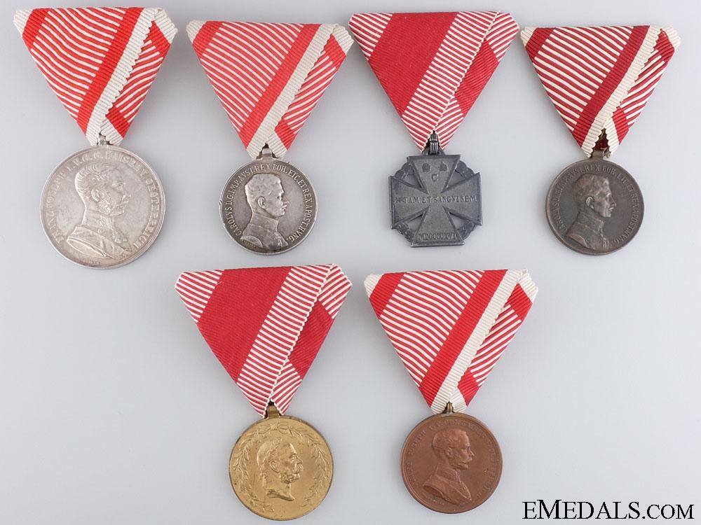 Six First War Period Austrian Medals
