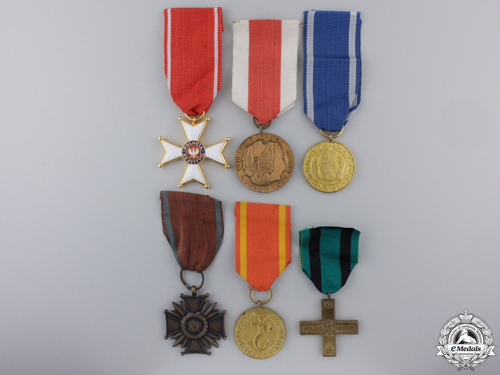 Six Polish Medals & Awards