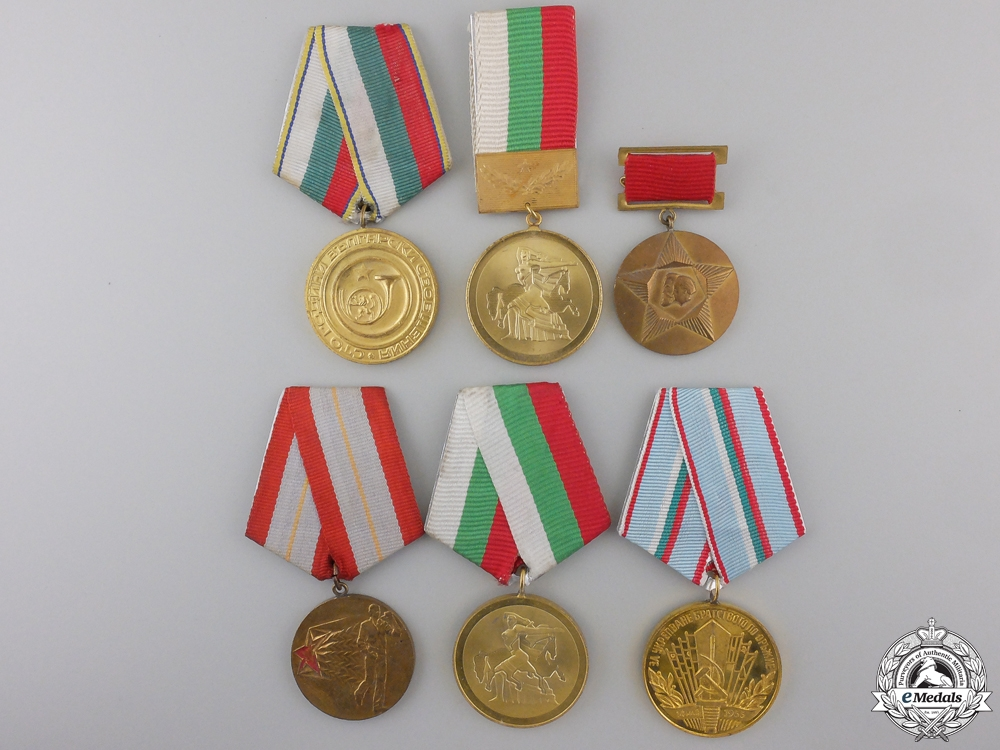 Six Republic of Bulgaria Medals and Awards