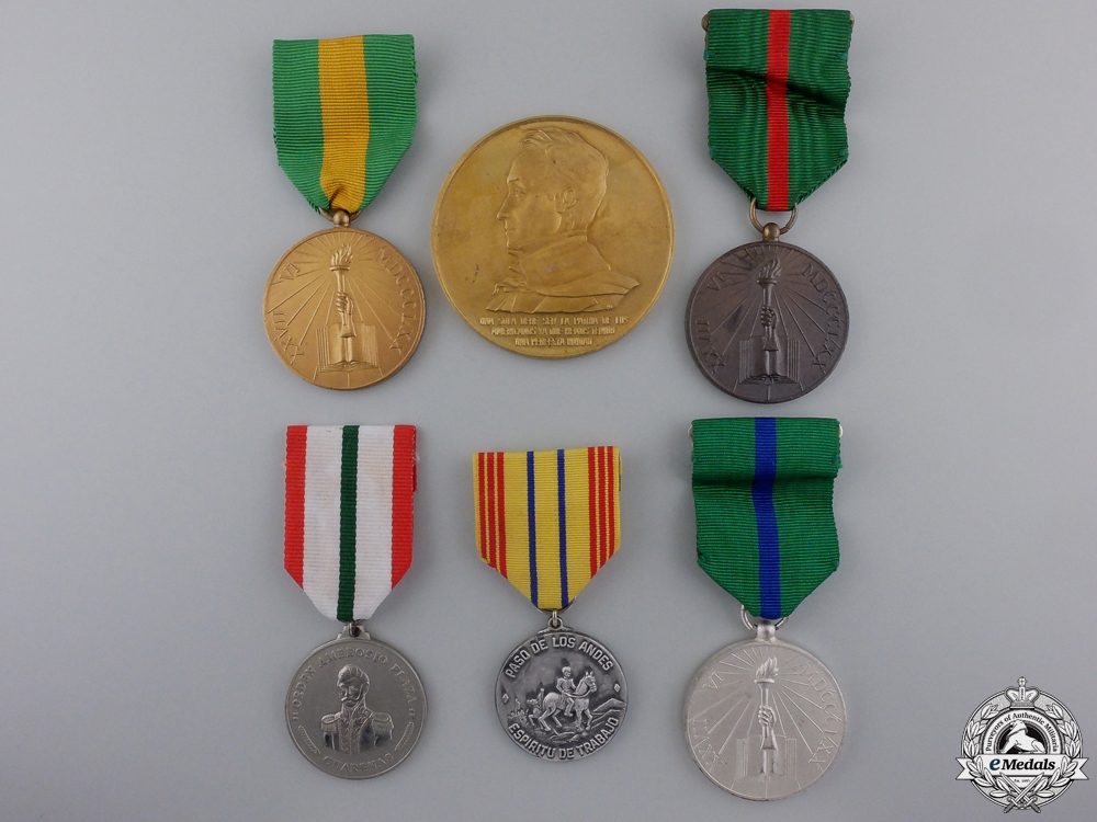 Six Venezuelan Medals & Awards