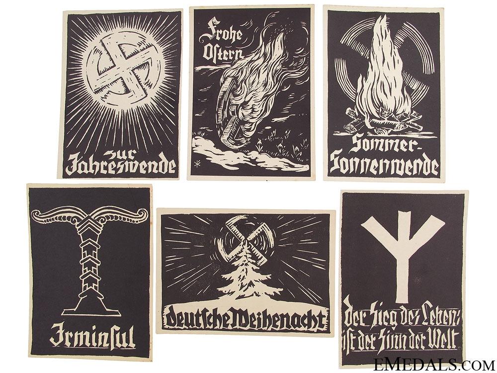 Six WWII German Postcards