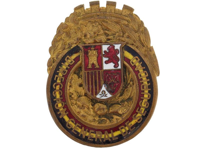 General Directorate of Security Badge. Rare.