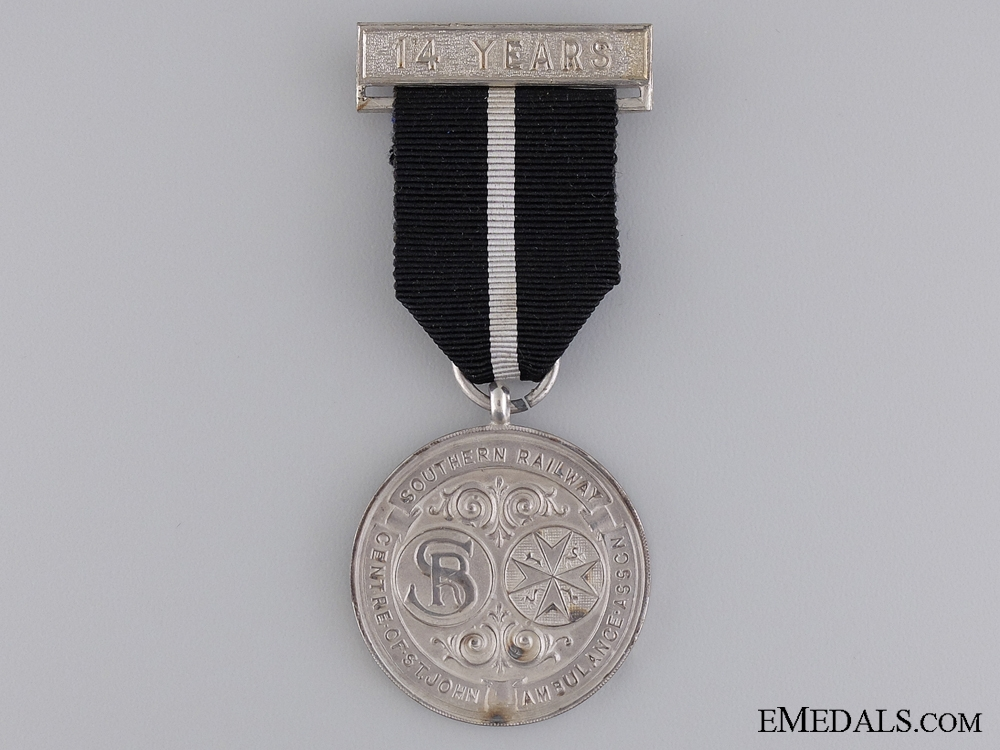 Southern Railway Centre of St John Ambulance Association Medal