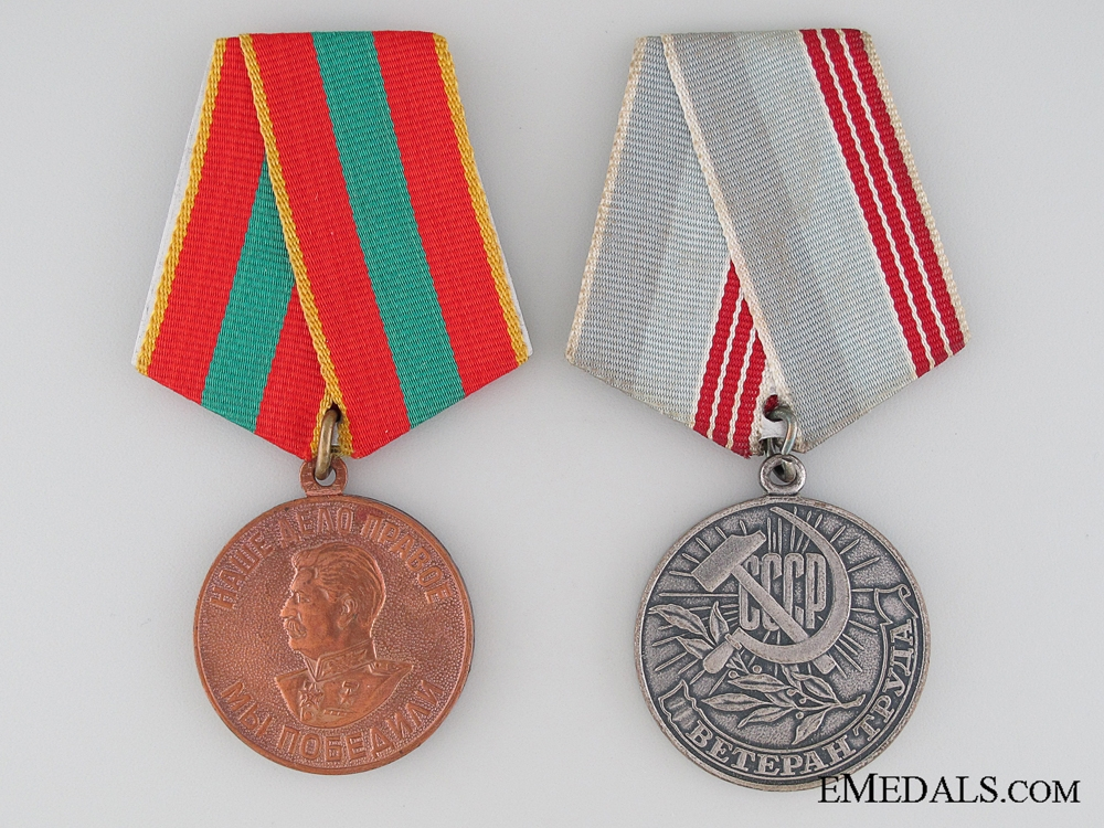 Soviet Union Labour Medal Pair