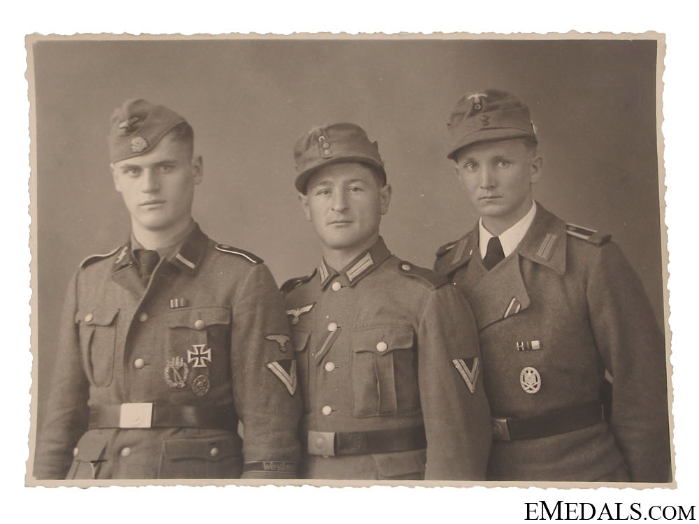 SS Westland Soldier & Comrades Photograph