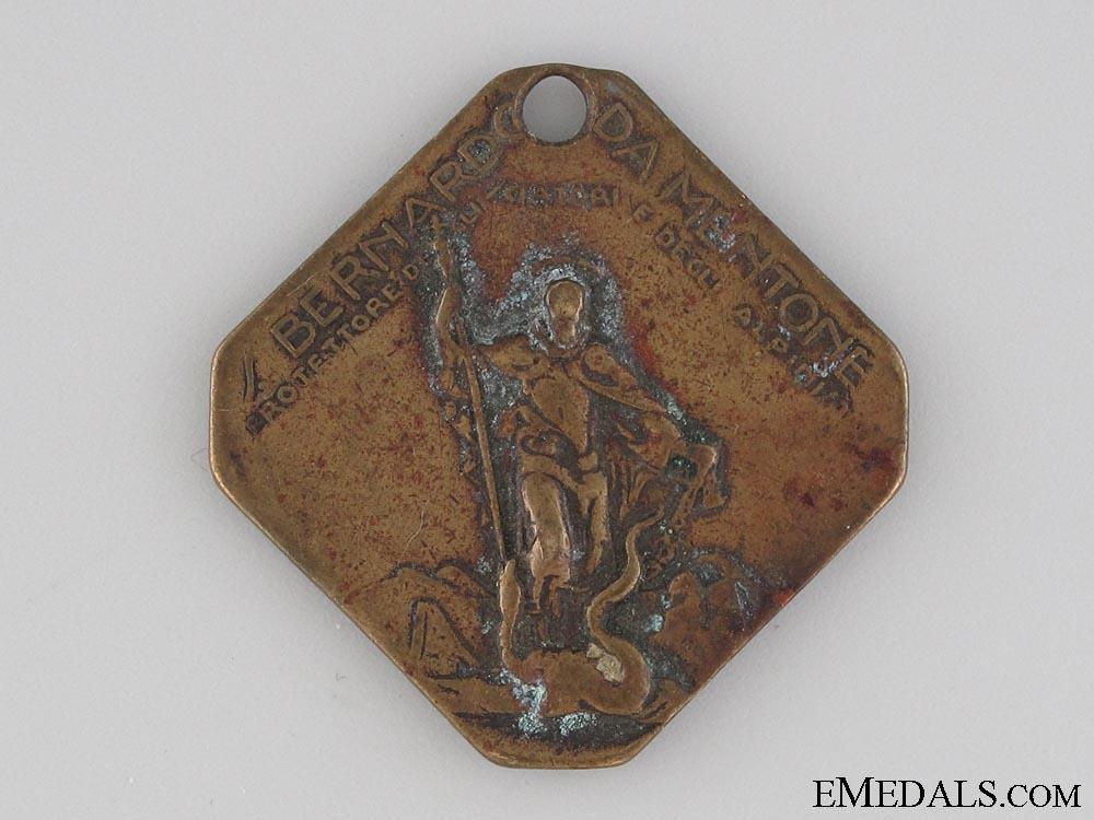 St. Bernard of Menthon in Sappada Protectorate Medal