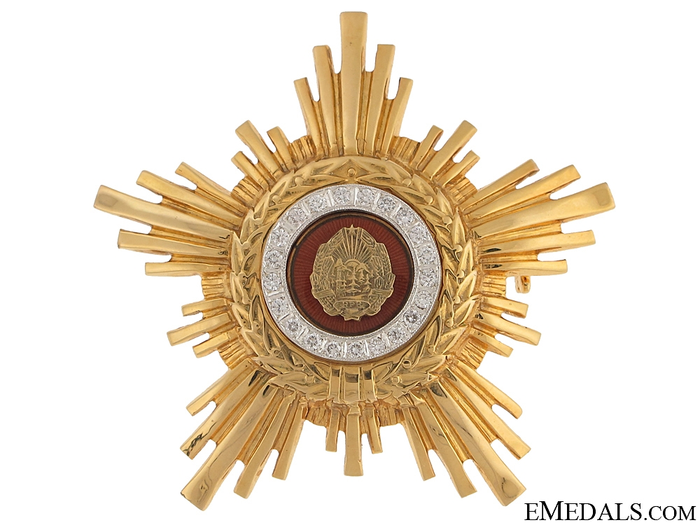 Star of the Romanian Socialist Republic - Gold
