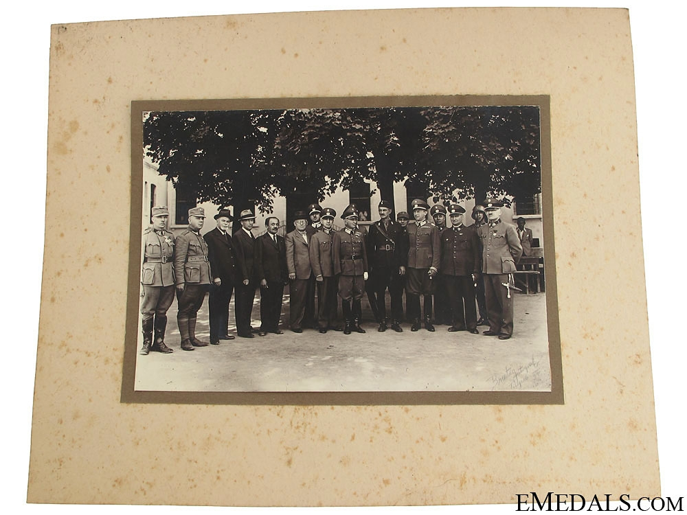 Superb Photo of Domobrani Leaders & Ustasha Officer