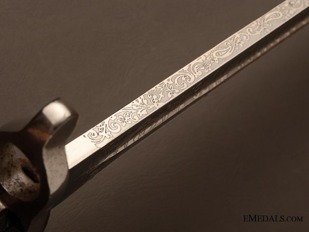 1871 Jäger Bayonet with Engraved Dedication