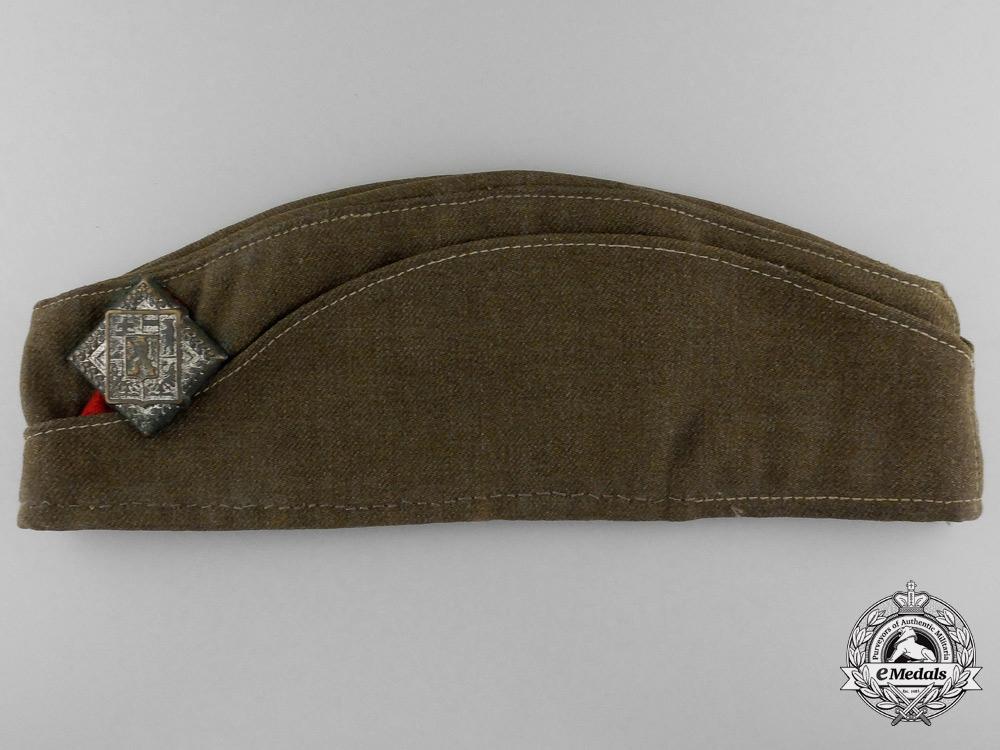 A Second War Czech Platoon Sergeant's Tunic, Side Cap with Belt & Buckle