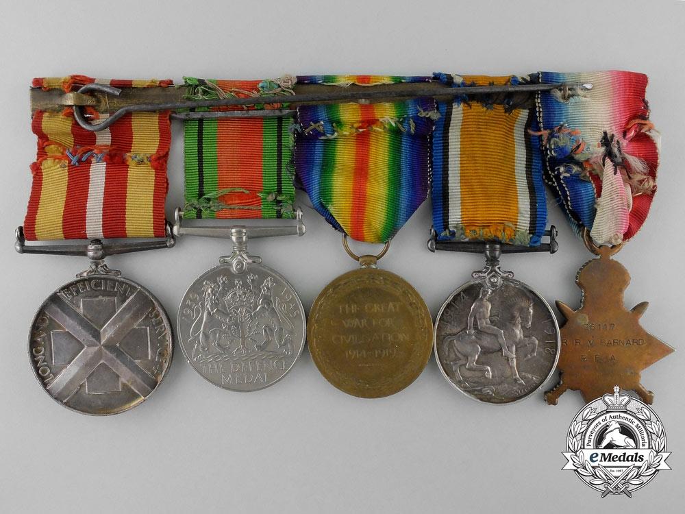 A First & Second War Group  to Reuben Victor Barnard; Royal Field Artillery/Royal Artillery