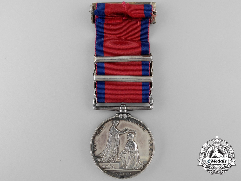 A Military General Service Medal to Baron George Wichmann; King's German Legion