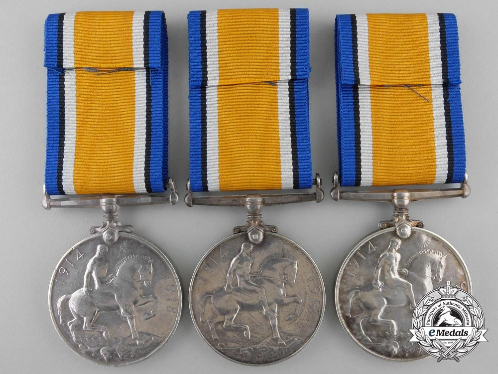 Three British War Medals to the Army; London & Yorkshire