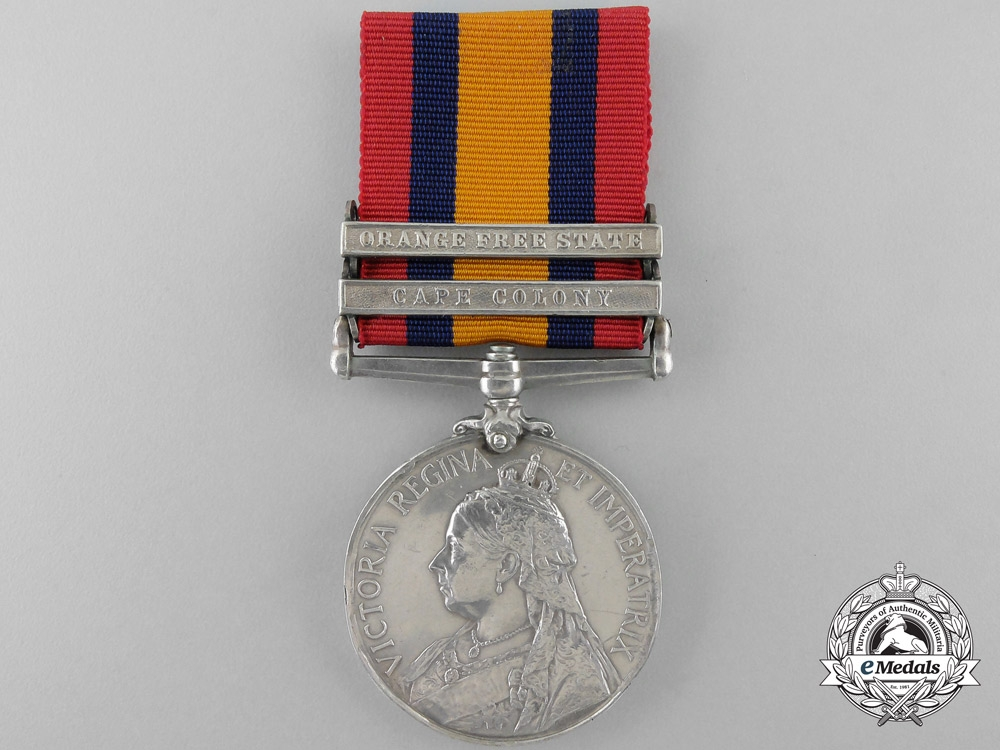 A Queen's South Africa Medal to the Canadian Postal Corps