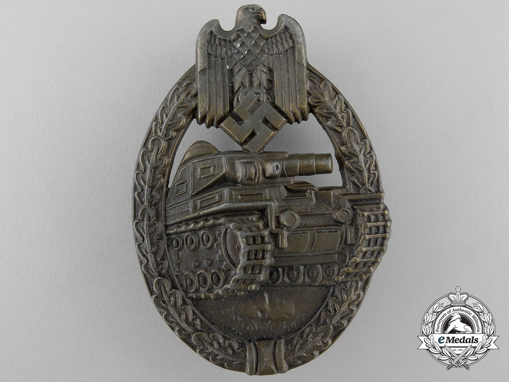 A Mint Bronze Grade Tank Badge by Hermann Wernstein