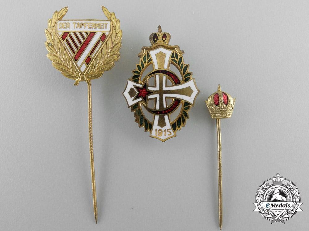 Three Fist War Period Austrian Badges