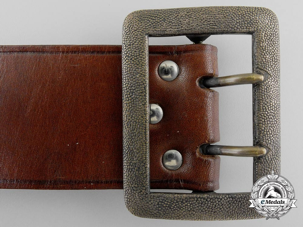 A Double Open-Claw Buckle with Brown Belt