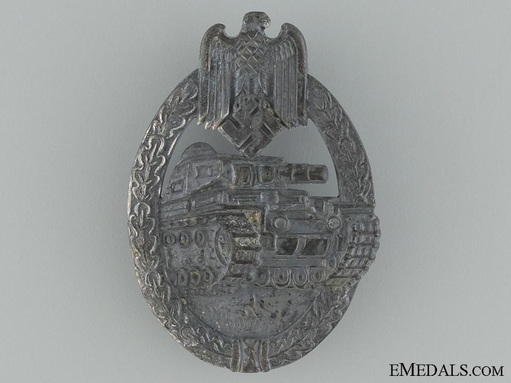 Tank Assault Badge; Silver Grade
