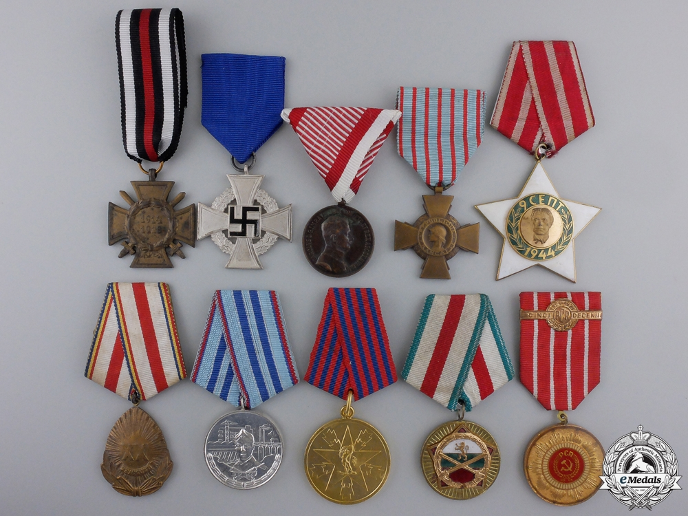 Ten European Awards & Medals