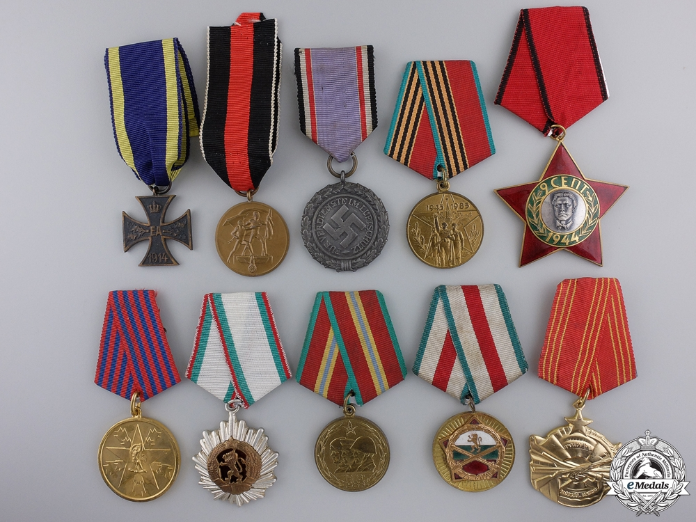 Ten Europeans Medals, Awards, & Badges