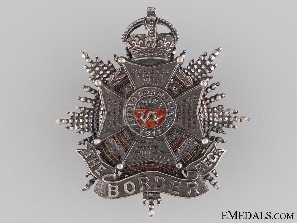 The Border Regiment Officer's Forage Cap Badge