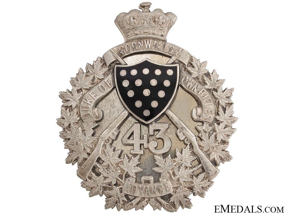 The Duke of Cornwall's Own Belt Plate 1907