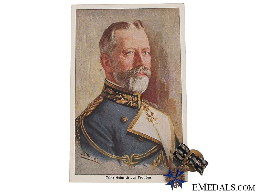 The Miniature Pour le Mérite of Prince Heinrich