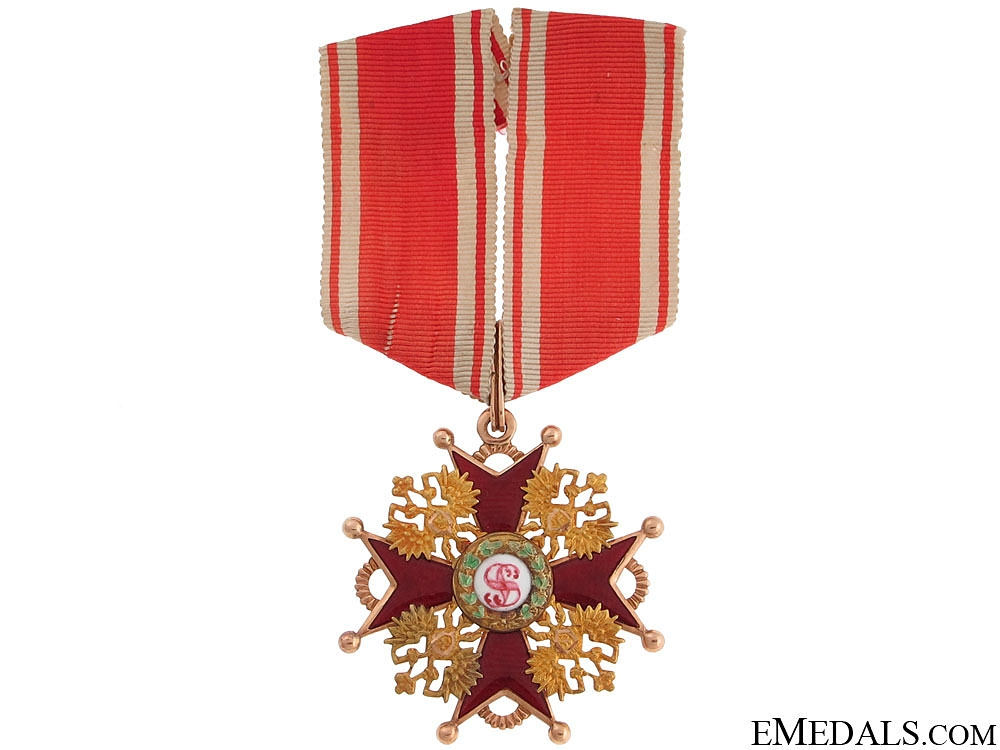 The Order of St. Stanislaus in Gold