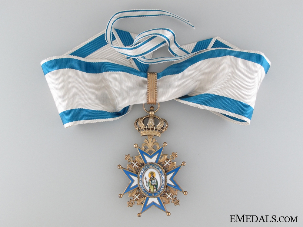 The Order of St. Sava; 3rd Class Commander Cross