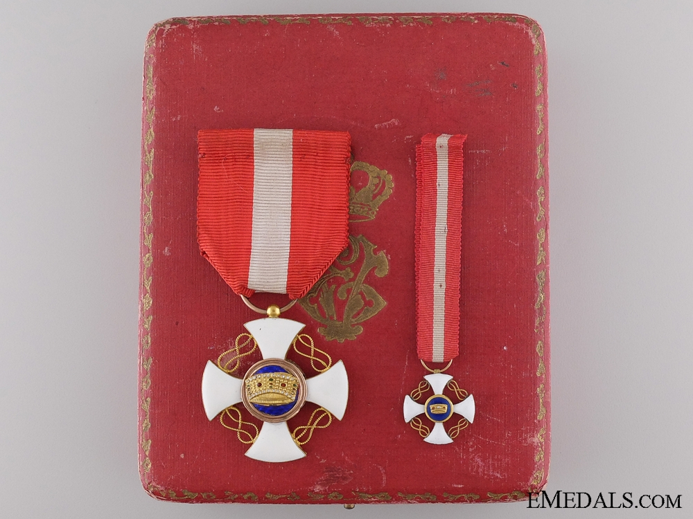 The Order of the Crown of Italy; 5th Class Knight's Breast Badge
