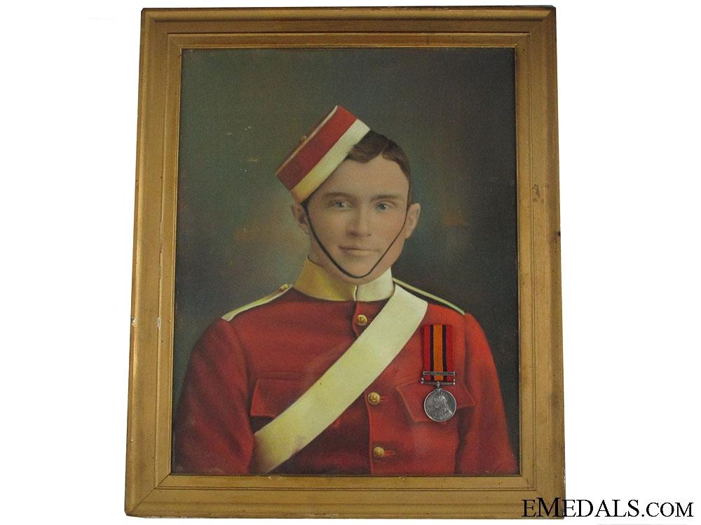 The QSA & Fine Portrait of Private J.Adams DOW