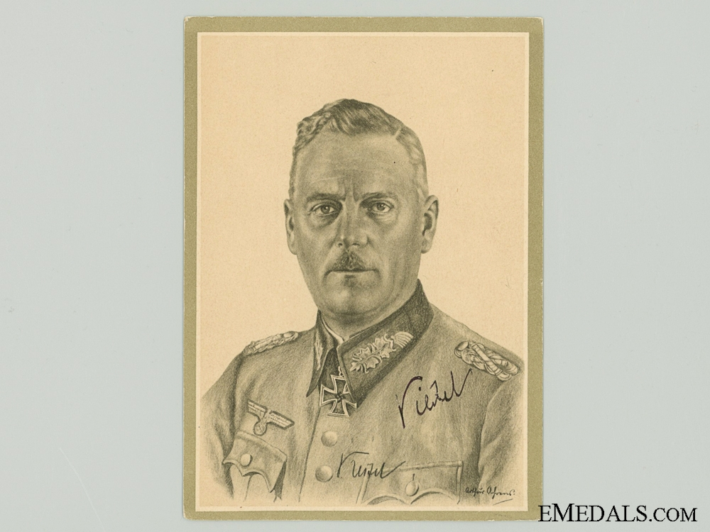 The Signature of Field Marshal Wilhelm Keitel