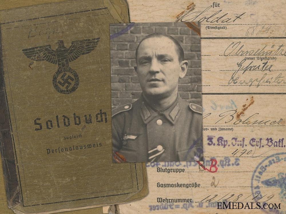 The Soldbuch of Karl Böhmer; 33rd Tank Destroyer Battalion