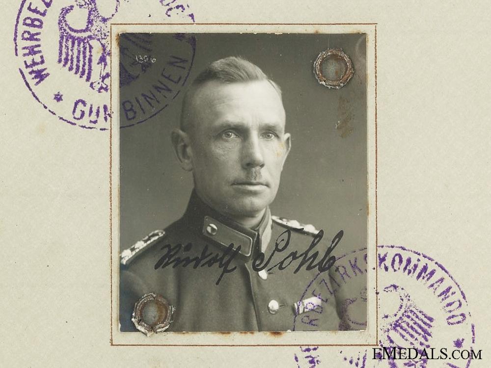 The Wehrpass to Senior Master Sentinel; Hungarian Cross