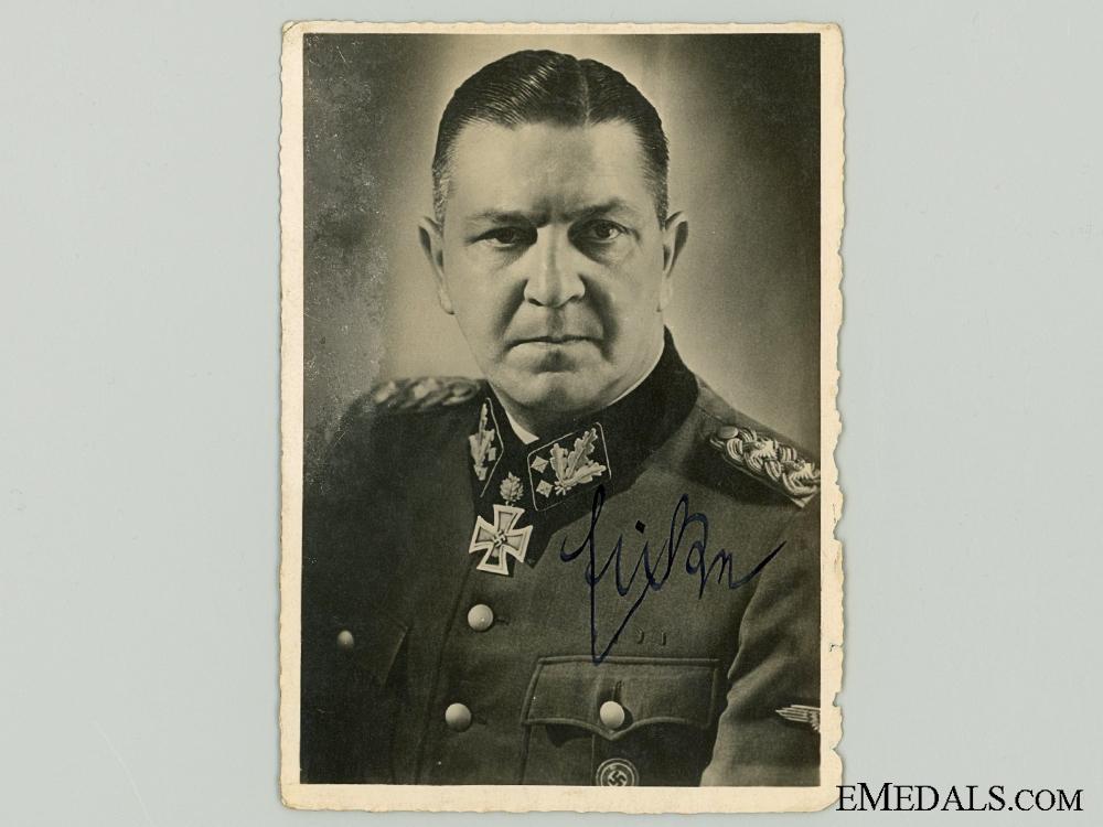 Theodor Eicke SS Totenkopf Commander Signature