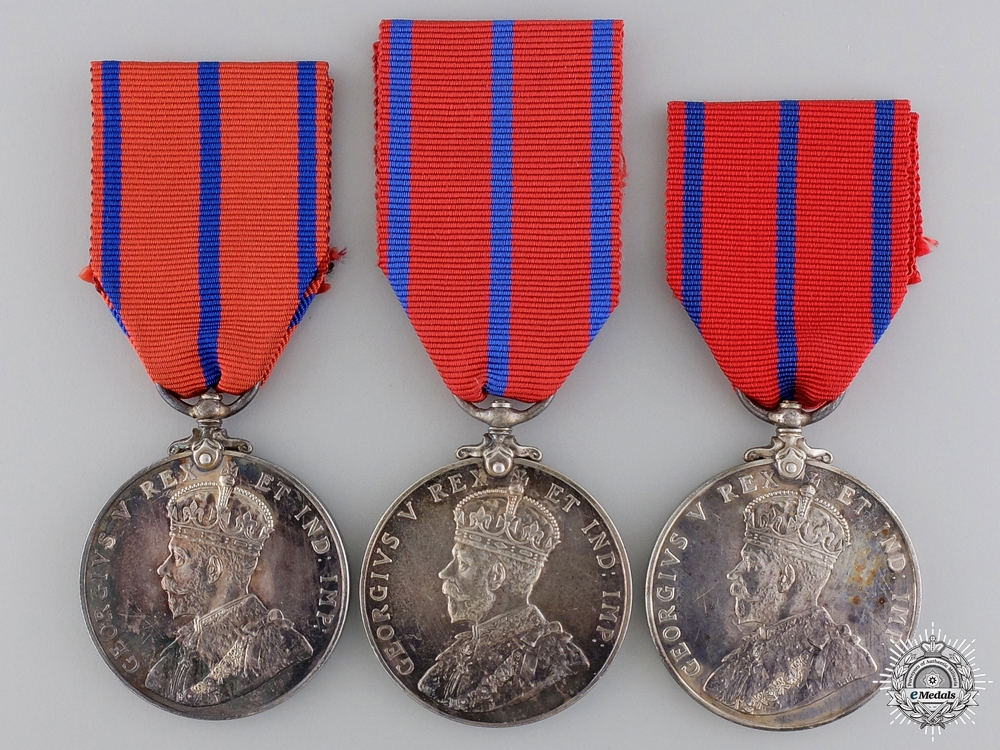Three 1911 Police Coronation Medals