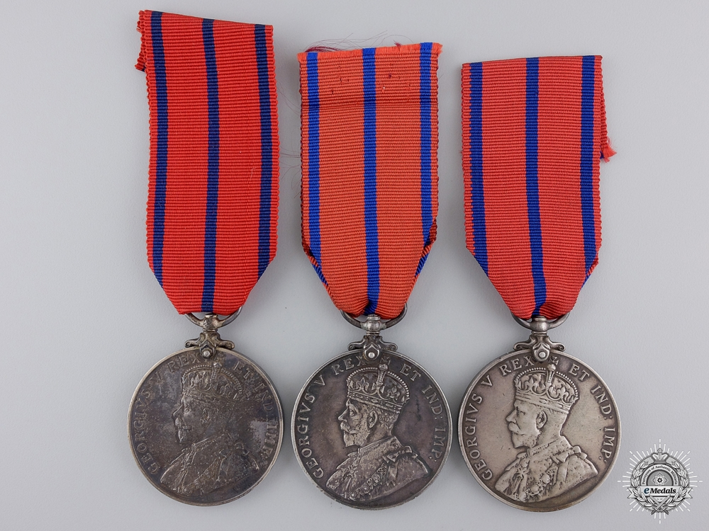 Three 1911 Public Services Coronation Medals