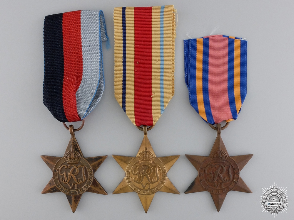 Three British Second War Campaign Stars