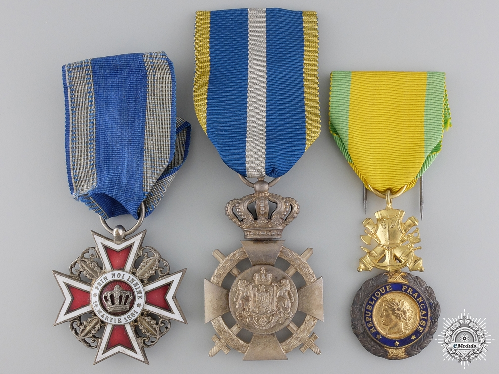 Three European Orders and Medals