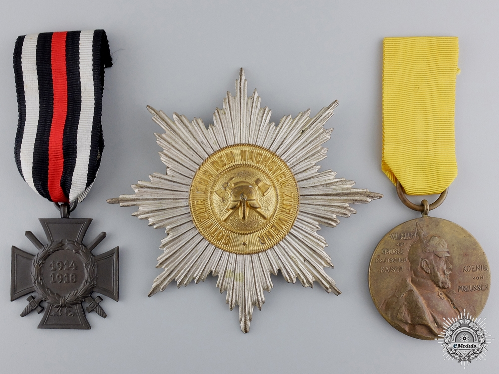 Three First War German Medals and Insignia