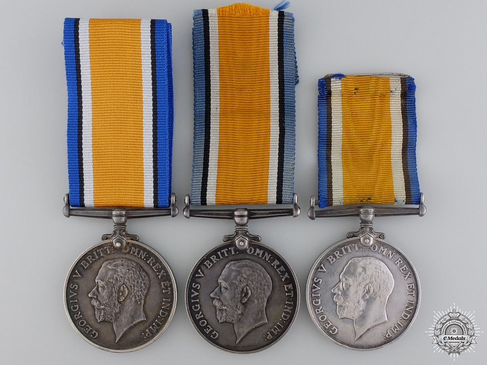 Three First War British War Medals